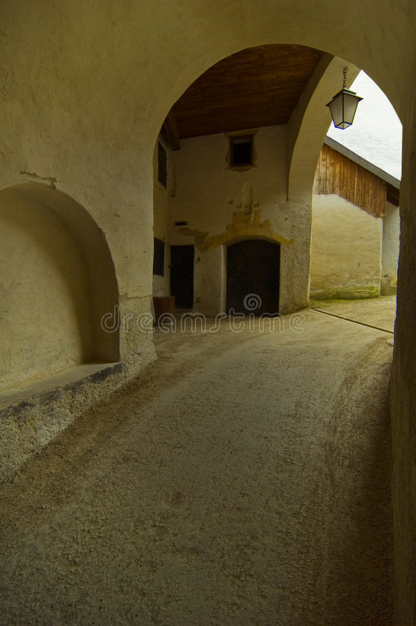 είσοδος κάστρων hohensalzburg στοκ εικόνες