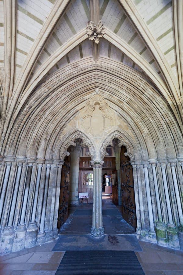 Είσοδος κοινοβίων Christchurch στοκ φωτογραφίες