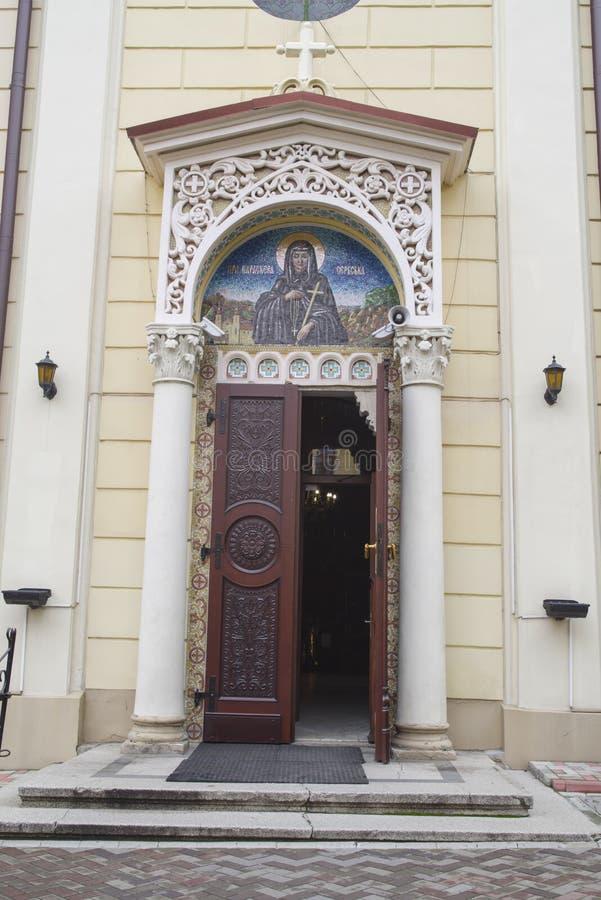 Είσοδος Ορθόδοξων Εκκλησιών σε Chernivtsi στοκ φωτογραφίες