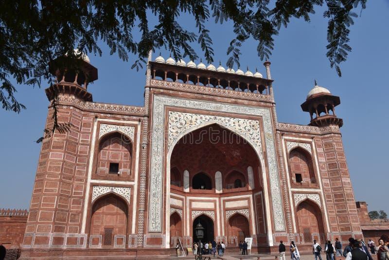 Είσοδος σε Taj Mahal στοκ εικόνες με δικαίωμα ελεύθερης χρήσης