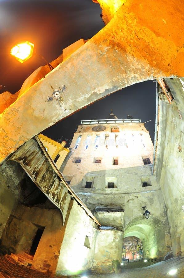 Είσοδος στην ακρόπολη Sighisoara στοκ φωτογραφία