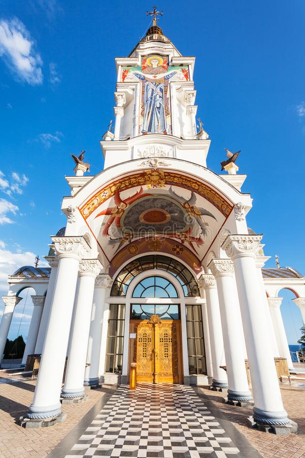 Είσοδος στον εκκλησία-φάρο του Άγιου Βασίλη στοκ εικόνες με δικαίωμα ελεύθερης χρήσης
