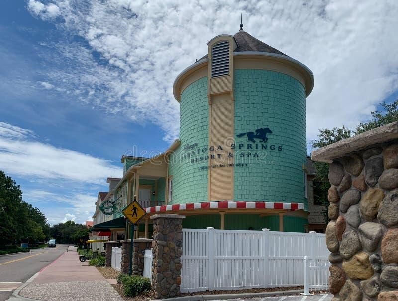 Είσοδος στο θέρετρο Saratoga Springs στον κόσμο Walt Disney στοκ φωτογραφίες με δικαίωμα ελεύθερης χρήσης