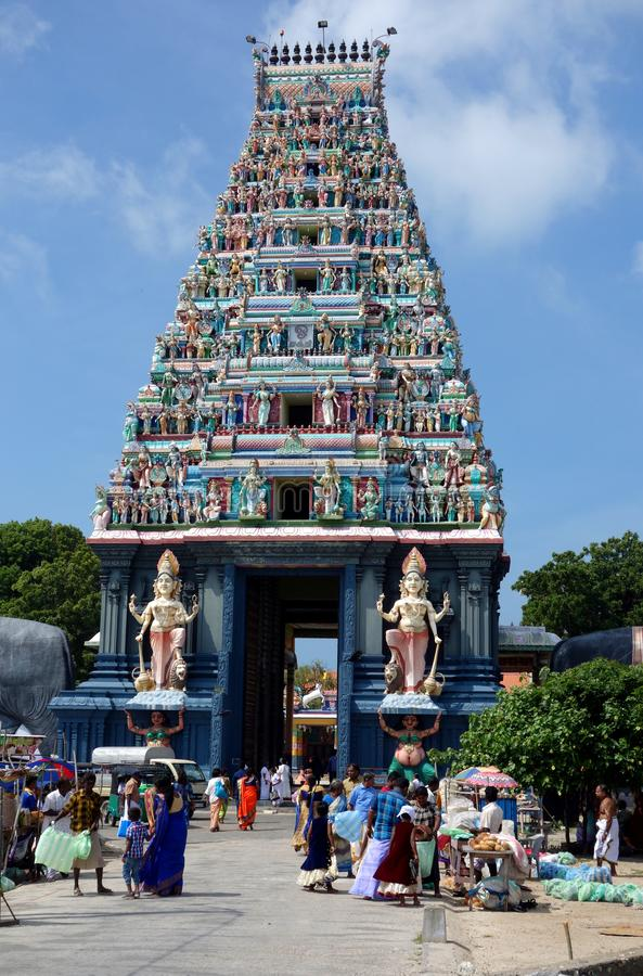 Είσοδος στο ναό Nagapooshani Αμμάν στοκ εικόνες με δικαίωμα ελεύθερης χρήσης
