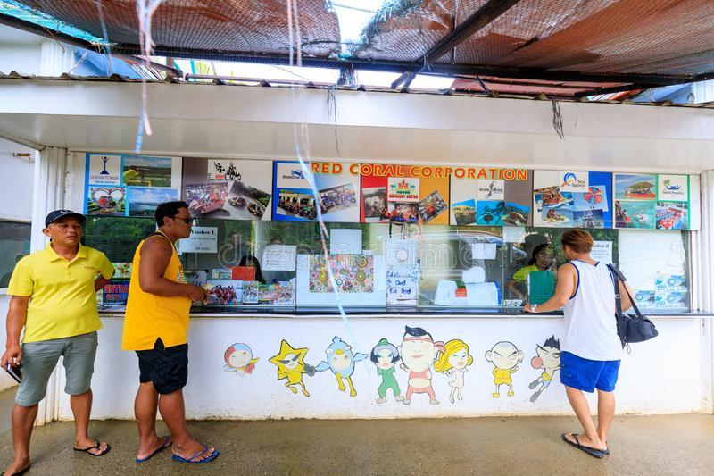 Είσοδος του ευτυχούς θεματικού πάρκου Dreamland στο νησί Boracay στοκ εικόνες με δικαίωμα ελεύθερης χρήσης
