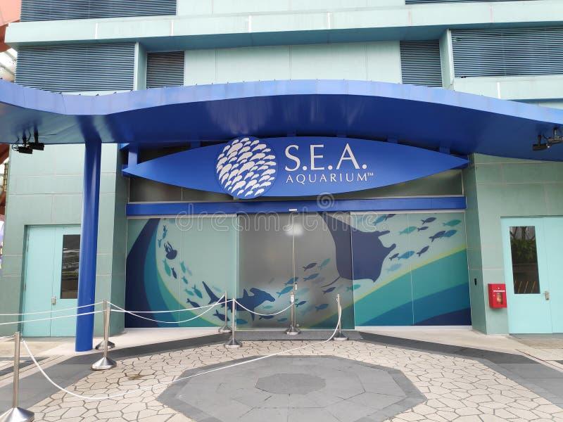 Είσοδος του S Ε Α Ενυδρείο στη Σιγκαπούρη στοκ εικόνες με δικαίωμα ελεύθερης χρήσης