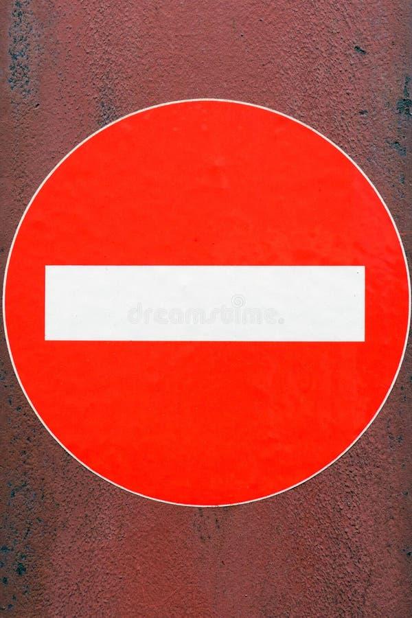 είσοδος καμία κυκλοφ&omicro στοκ φωτογραφία με δικαίωμα ελεύθερης χρήσης