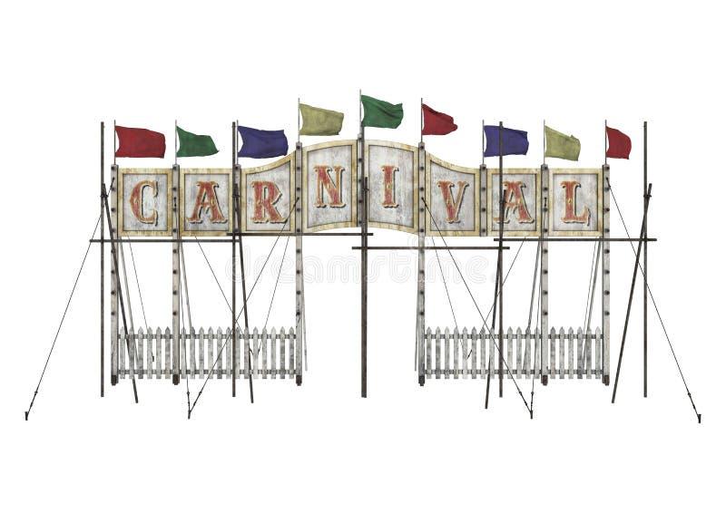 Είσοδος καρναβαλιού στοκ φωτογραφίες