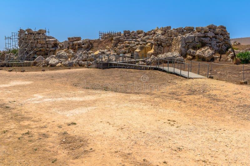 Είσοδος ναών Ggantija στοκ εικόνες