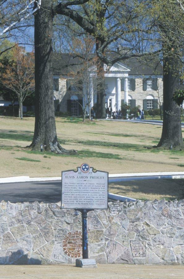 Είσοδος σε Graceland, σπίτι του Elvis Presley, Μέμφιδα, TN στοκ φωτογραφίες
