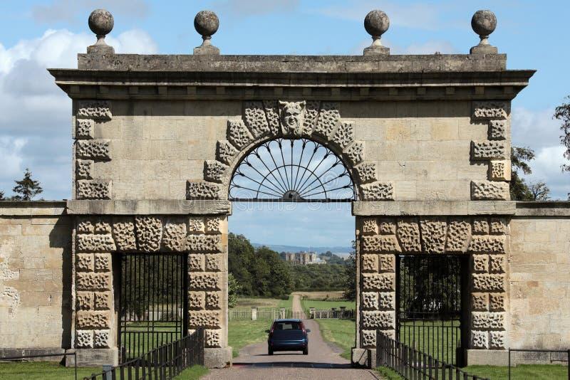 Είσοδος σε Studley βασιλικό - καθεδρικός ναός Ripon στοκ φωτογραφίες