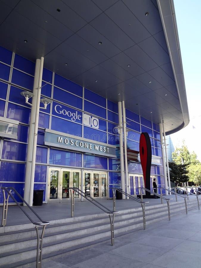Είσοδος στην αρρενωπή Συνθήκη Google IO στοκ φωτογραφία