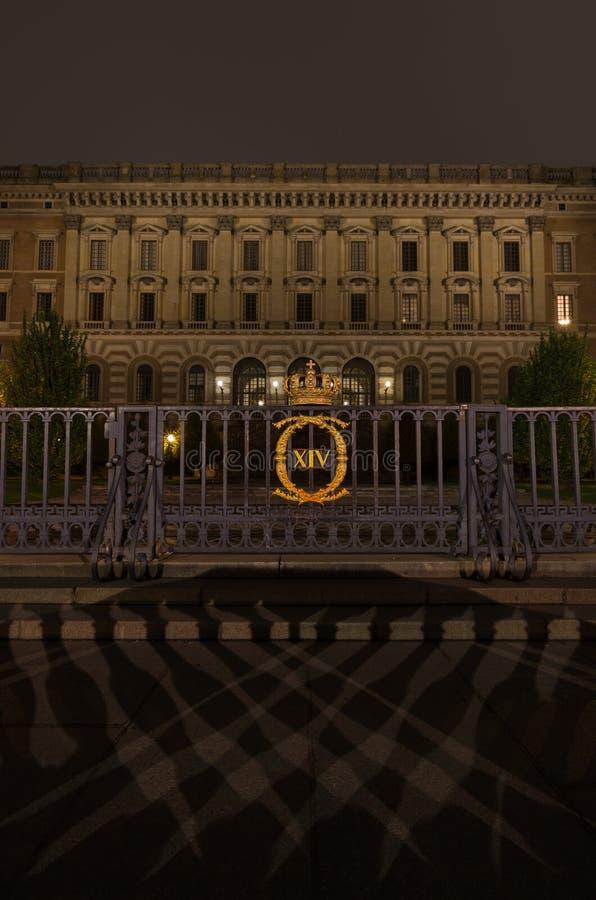 Είσοδος στην οικοδόμηση της Royal Palace στη Στοκχόλμη 05 11 2015 στοκ εικόνες με δικαίωμα ελεύθερης χρήσης