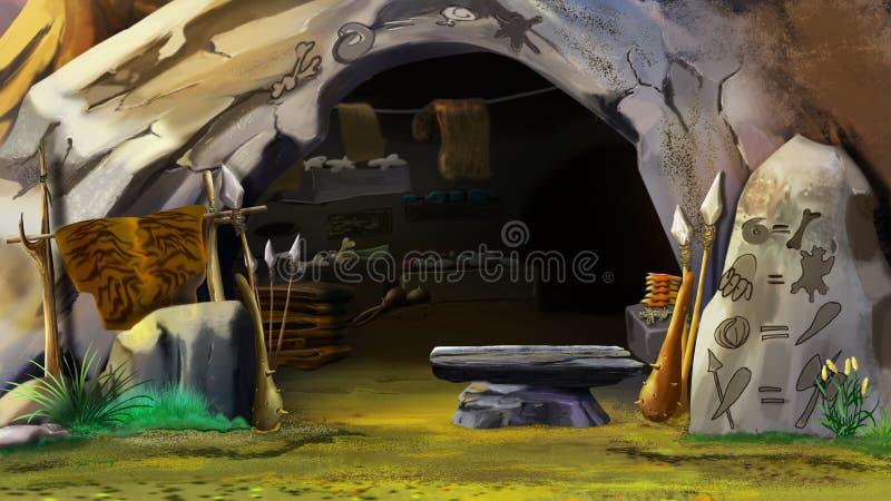 Είσοδος στη σπηλιά πετρών διανυσματική απεικόνιση