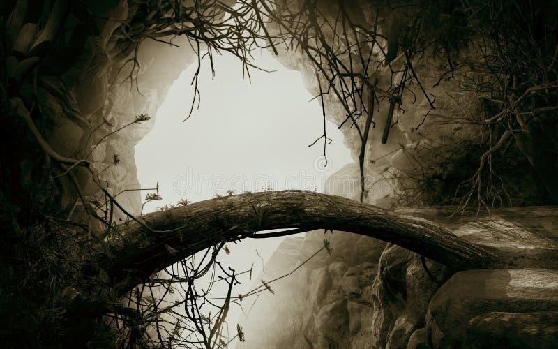 Είσοδος στη σπηλιά διανυσματική απεικόνιση