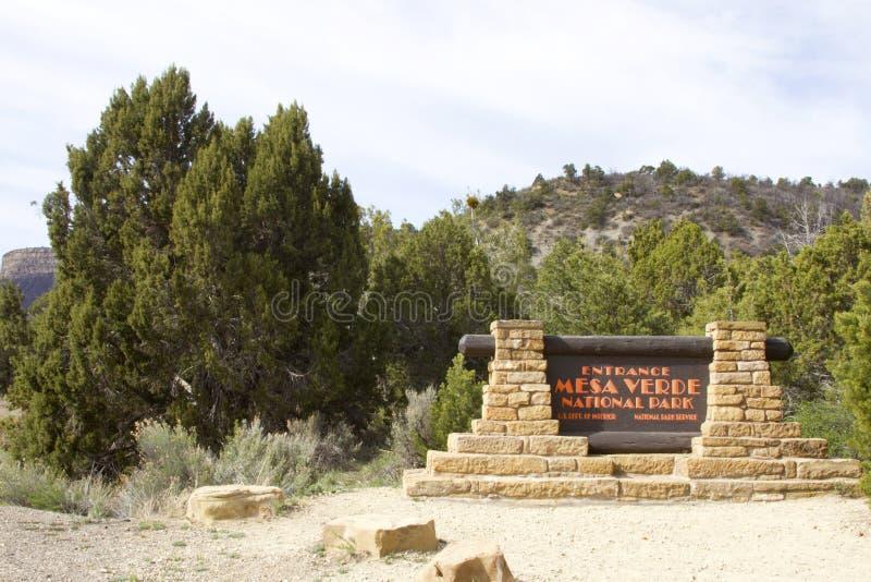 Είσοδος στο εθνικό πάρκο Mesa Verde στοκ φωτογραφίες
