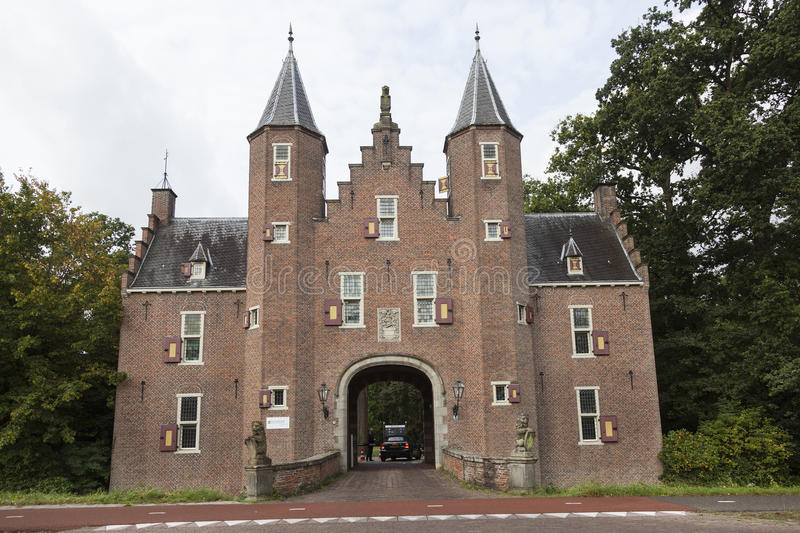 Είσοδος στο επιχειρησιακό πανεπιστήμιο nyebrode στο ολλανδικό χωριό στοκ φωτογραφία με δικαίωμα ελεύθερης χρήσης