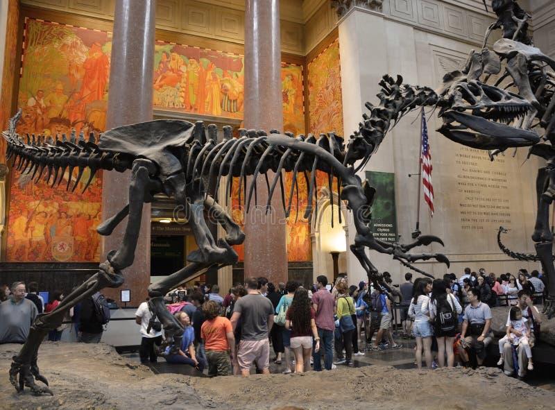 Είσοδος στο διάσημο αμερικανικό μουσείο της φυσικής ιστορίας στοκ φωτογραφίες