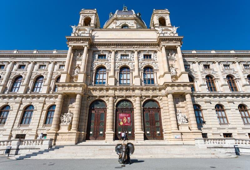 Είσοδος στο μουσείο Naturhistorisches, Βιέννη στοκ φωτογραφίες