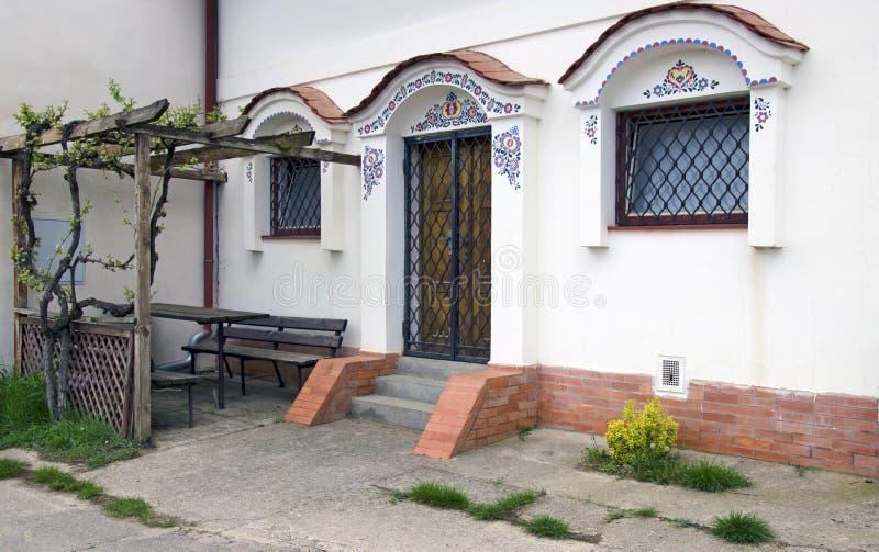 Είσοδος στο moravian κελάρι κρασιού, Dolni Bojanovice στοκ εικόνες με δικαίωμα ελεύθερης χρήσης