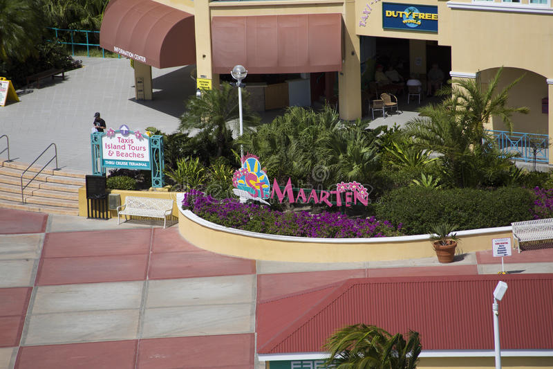 Είσοδος στο ST Maarten Shopping στοκ εικόνα