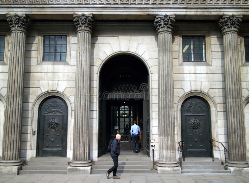 Είσοδος Τράπεζας της Αγγλίας στοκ φωτογραφίες