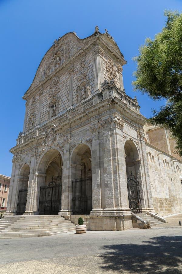 Είσοδος Sassari καθεδρικών ναών στοκ φωτογραφίες