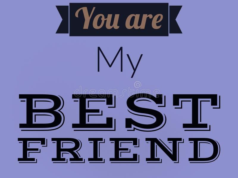 Είστε η γραμμή καλύτερων φίλων μου στο μαύρο χρώμα στο πορφυρό υπόβαθρο στοκ φωτογραφίες