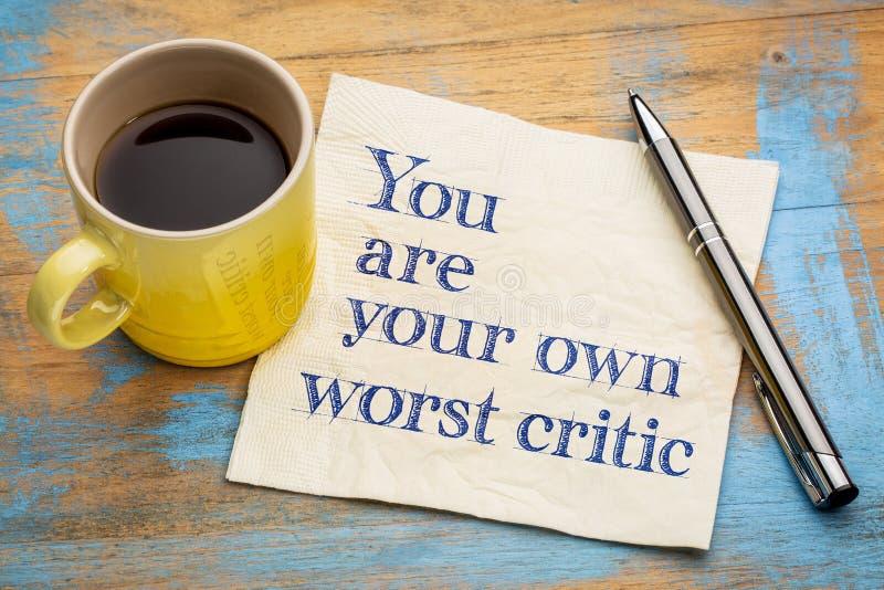 Είστε ο χειρότερος κριτικός σας στοκ εικόνες