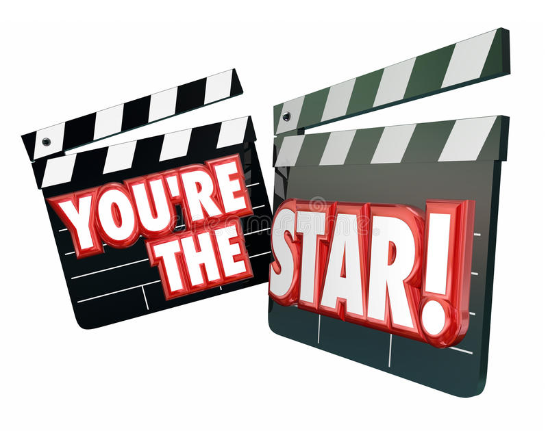 Είστε Clappers κινηματογράφων αστεριών ελεύθερη απεικόνιση δικαιώματος