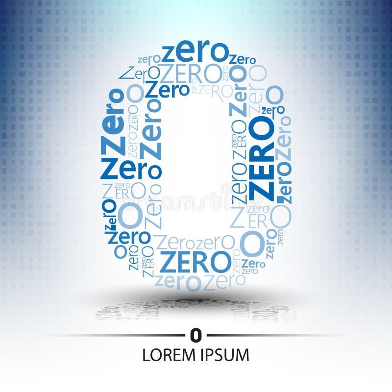 Είδος χαρακτήρα για τον αριθμό μηδενικά μελλοντικό σχέδιο τεχνολογίας λογότυπων ελεύθερη απεικόνιση δικαιώματος