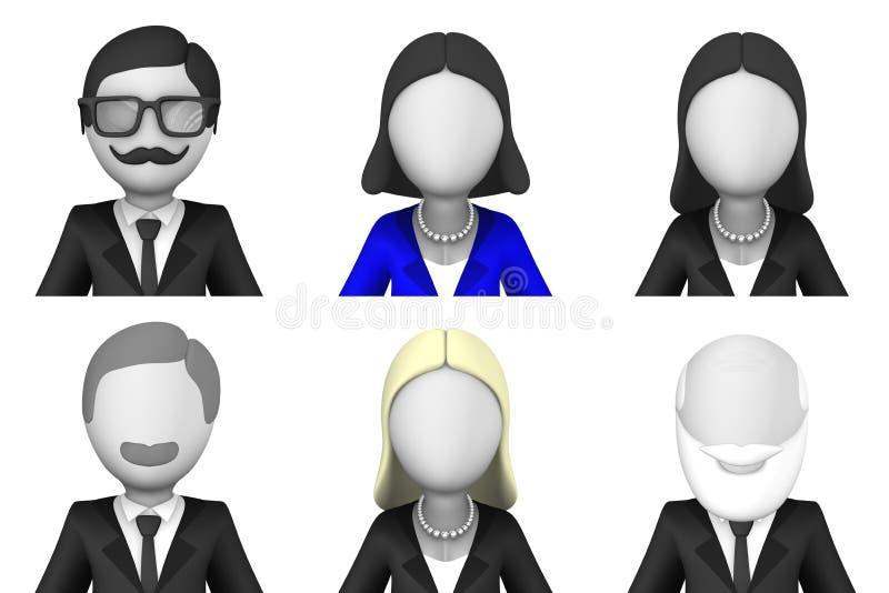 Είδωλα επιχειρηματιών τρισδιάστατα ελεύθερη απεικόνιση δικαιώματος