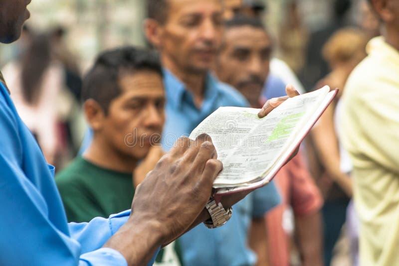 Εβαγγελικός ιεροκήρυκας στοκ φωτογραφία