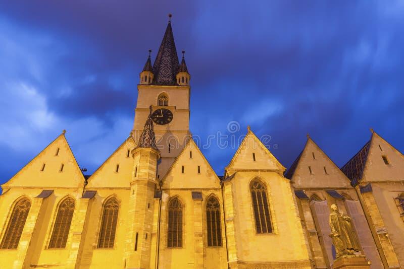 Εβαγγελικός καθεδρικός ναός Αγίου Mary στο Sibiu στοκ εικόνες