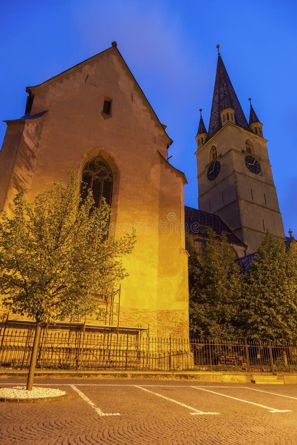 Εβαγγελικός καθεδρικός ναός Αγίου Mary στο Sibiu στοκ εικόνες με δικαίωμα ελεύθερης χρήσης