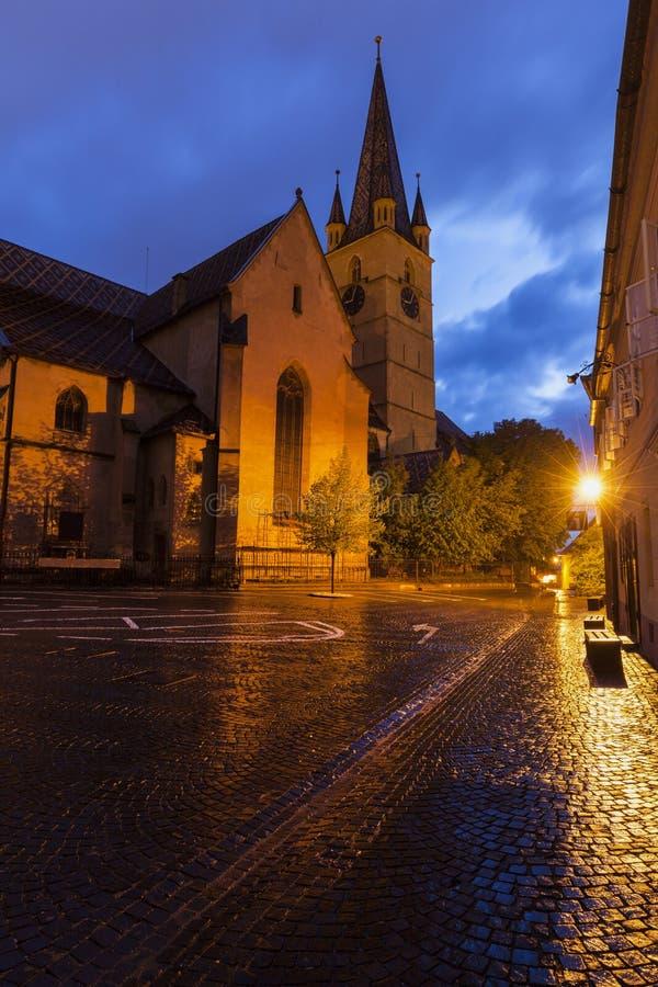 Εβαγγελικός καθεδρικός ναός Αγίου Mary στο Sibiu στοκ φωτογραφίες
