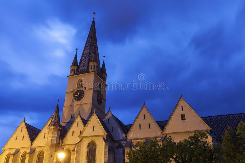 Εβαγγελικός καθεδρικός ναός Αγίου Mary στο Sibiu στοκ φωτογραφία με δικαίωμα ελεύθερης χρήσης