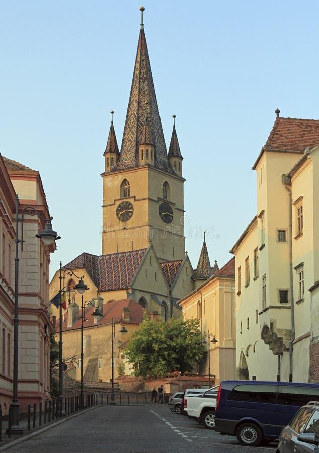Εβαγγελικός καθεδρικός ναός Αγίου Mary στο Sibiu στοκ εικόνα με δικαίωμα ελεύθερης χρήσης