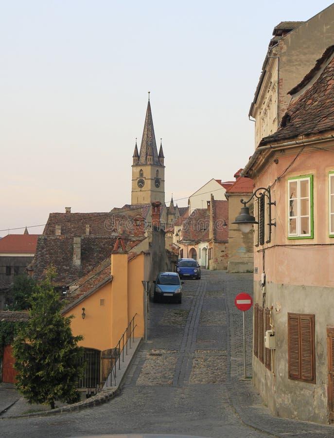 Εβαγγελικός καθεδρικός ναός Αγίου Mary στο Sibiu στοκ εικόνα