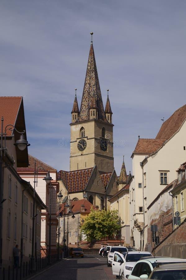 Εβαγγελικός καθεδρικός ναός στο Sibiu, Ρουμανία στοκ φωτογραφίες
