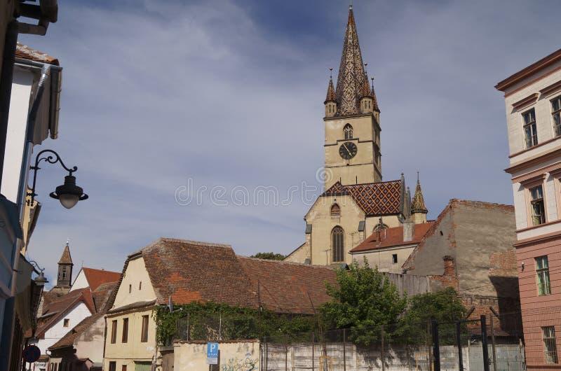 Εβαγγελικός καθεδρικός ναός στο Sibiu, Ρουμανία στοκ φωτογραφία με δικαίωμα ελεύθερης χρήσης