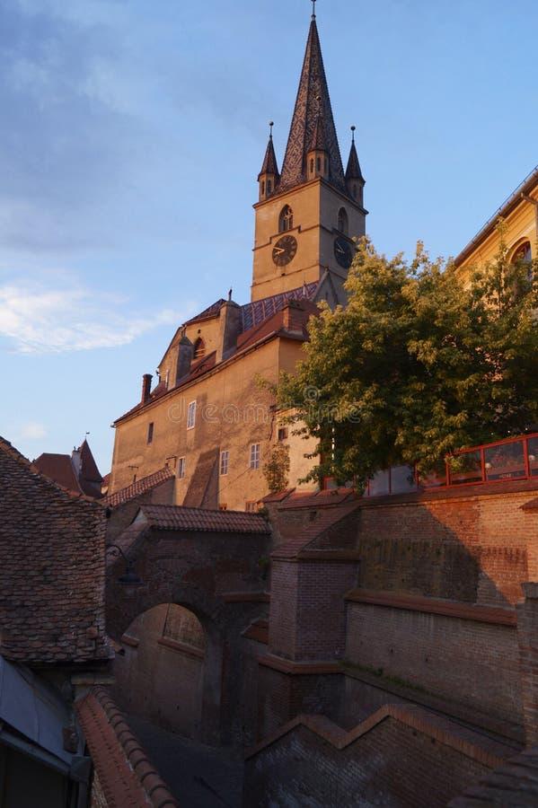 Εβαγγελικός καθεδρικός ναός στο Sibiu, Ρουμανία στοκ φωτογραφία