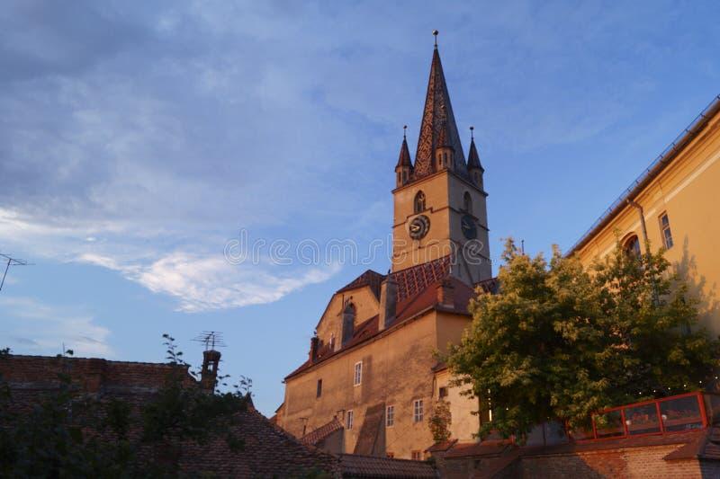 Εβαγγελικός καθεδρικός ναός στο Sibiu, Ρουμανία στοκ εικόνα με δικαίωμα ελεύθερης χρήσης