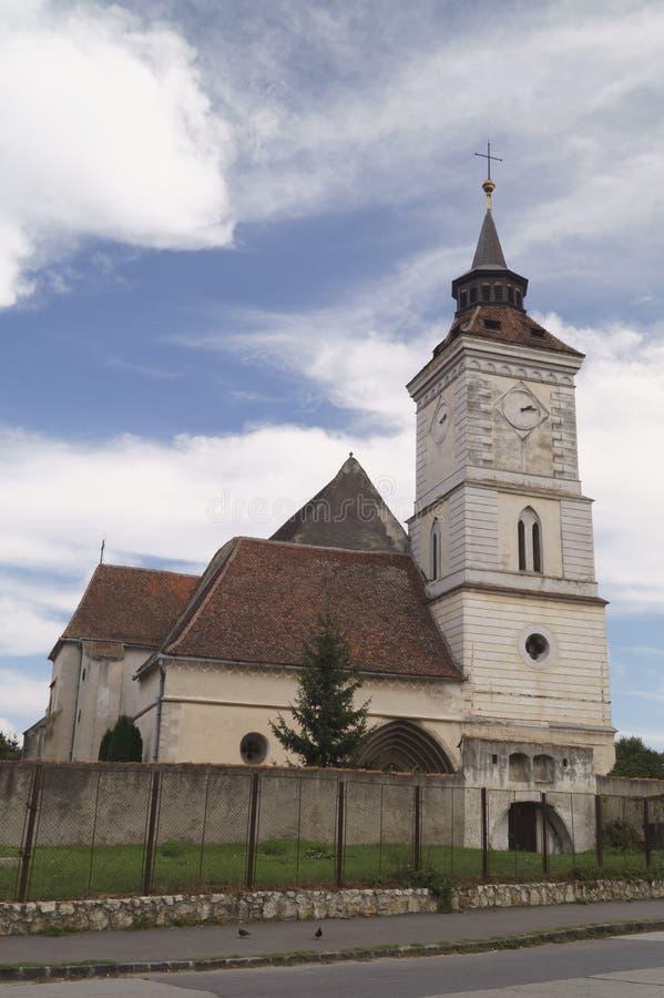 Εβαγγελικός-λουθηρανική εκκλησία ST Bartholomew Biserica Sfantul Bartolomeu, Brasov, Ρουμανία στοκ εικόνα