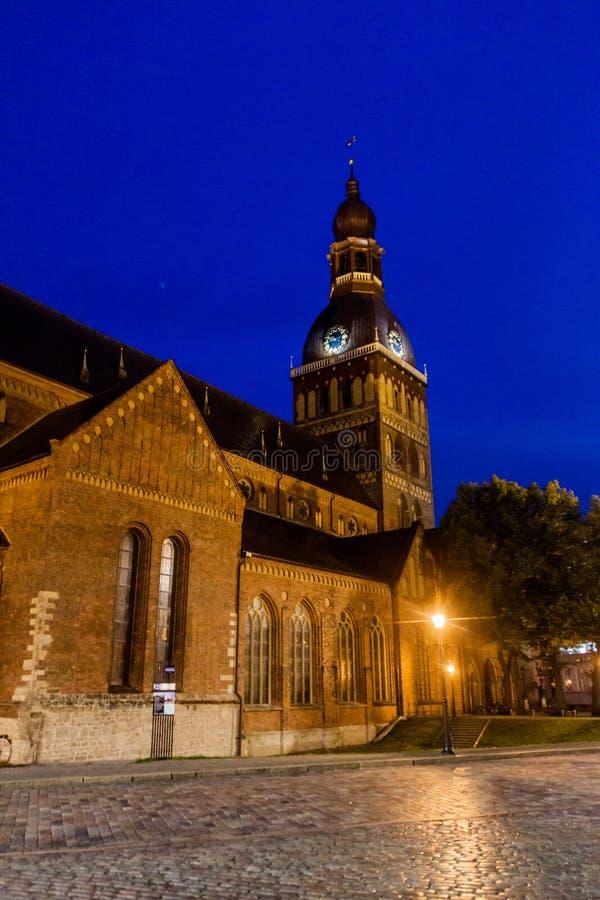 Εβαγγελικός λουθηρανικός καθεδρικός ναός στη Ρήγα, Latv στοκ φωτογραφία με δικαίωμα ελεύθερης χρήσης