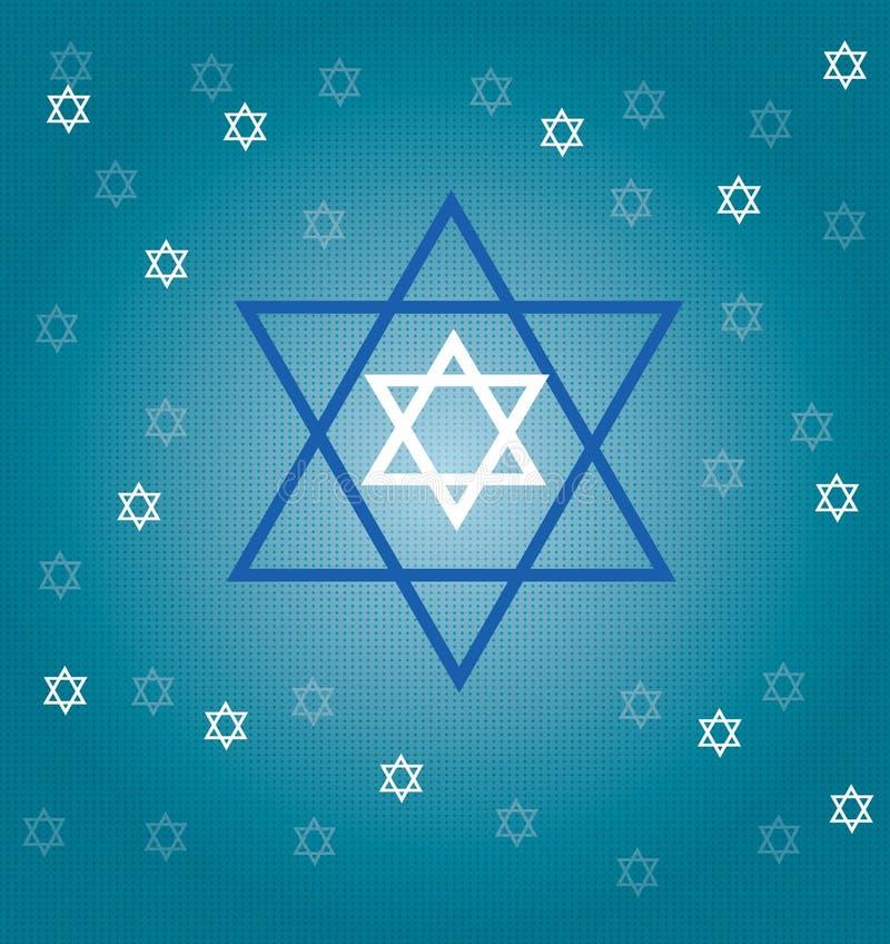 εβραϊκά αστέρια διανυσματική απεικόνιση