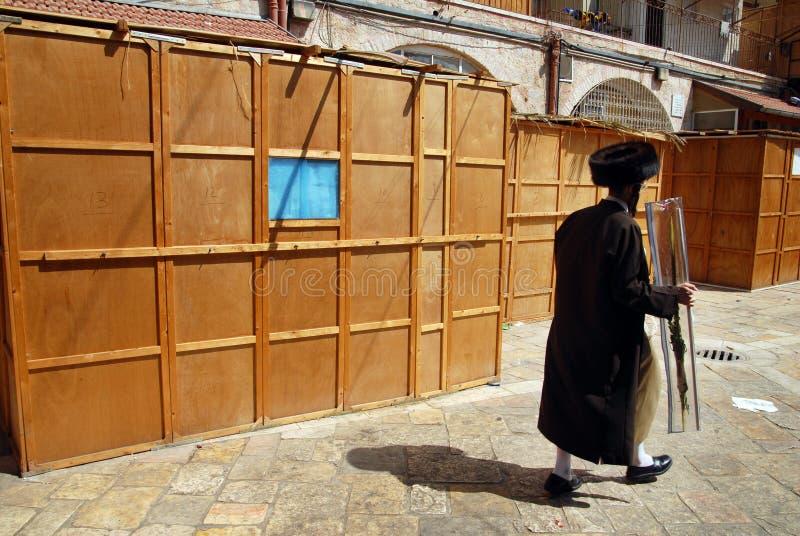 Εβραϊκές διακοπές Sukkoth στην Ιερουσαλήμ στοκ φωτογραφία