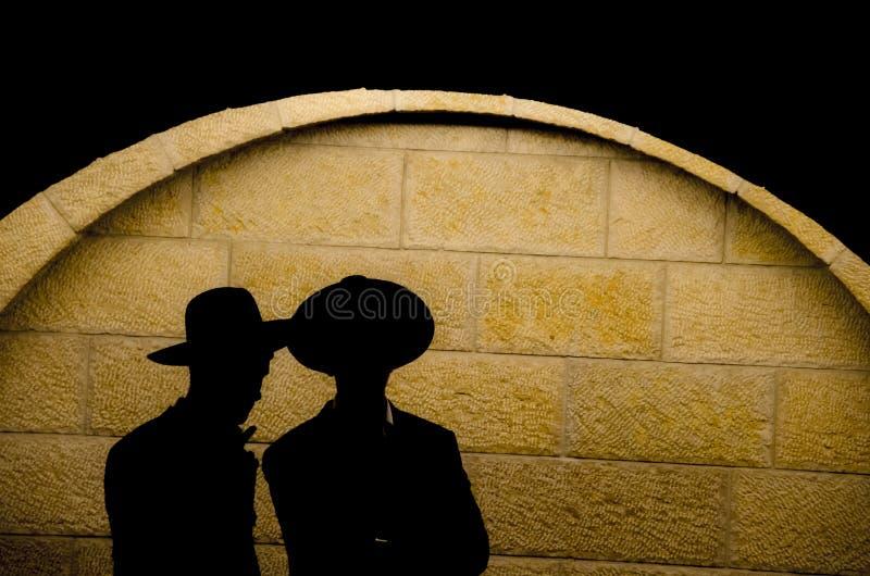 Εβραϊκή ορθόδοξη σκιαγραφία στοκ εικόνες με δικαίωμα ελεύθερης χρήσης