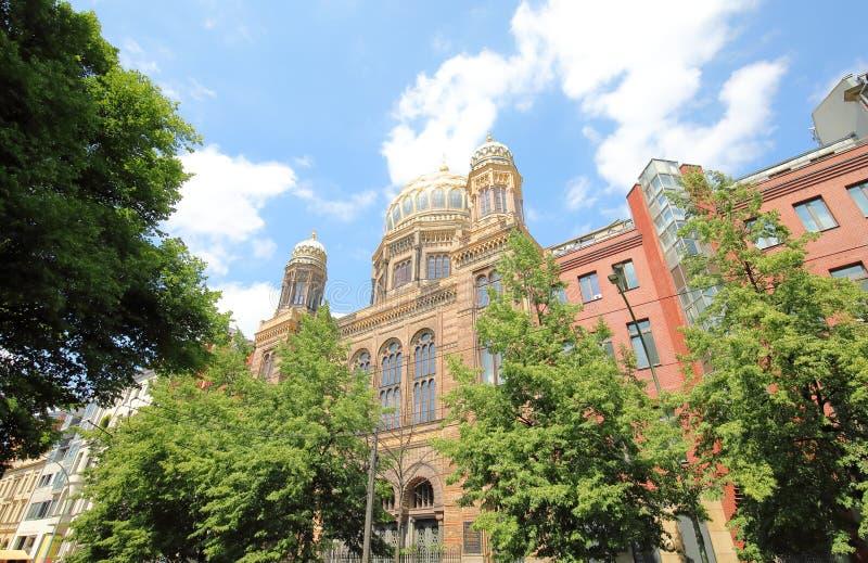 Εβραϊκός ναός Βερολίνο Γερμανία στοκ εικόνα με δικαίωμα ελεύθερης χρήσης