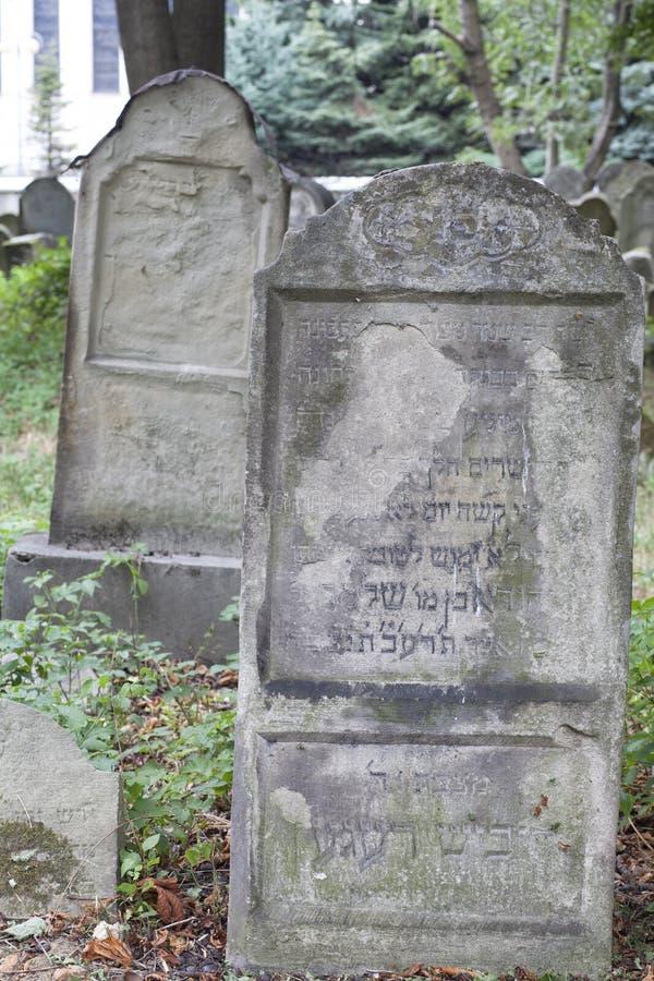 εβραϊκός παλαιός νεκροταφείων στοκ εικόνες με δικαίωμα ελεύθερης χρήσης